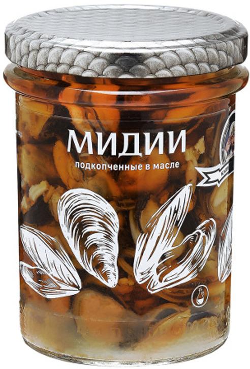 Капитан вкусов Мидии подкопченные в масле, 210 г капитан вкусов сайра тихоокеанская бланшированная в масле 200 г