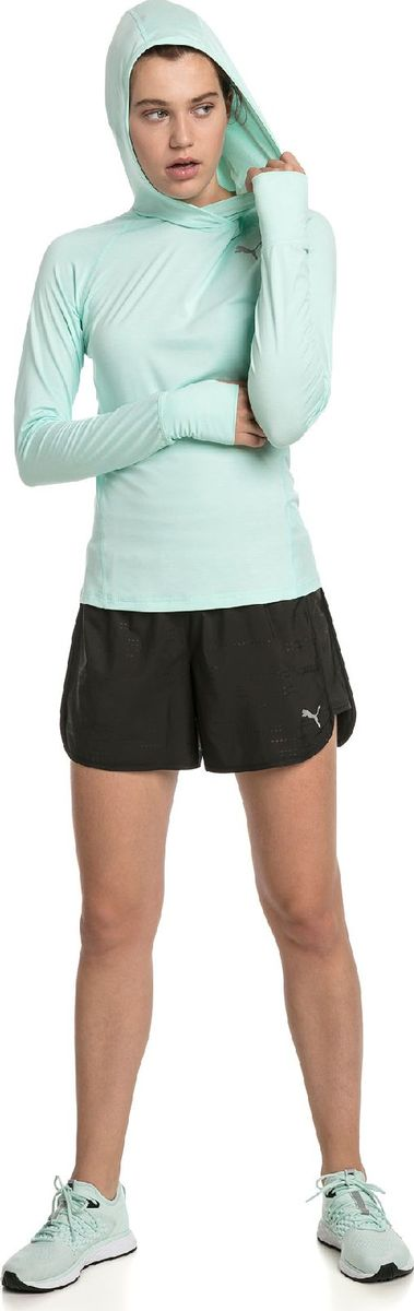 Худи PUMA Ignite L S Hoody Tee шорты женские puma ignite short tight w цвет черный 51668403 размер l 46 48