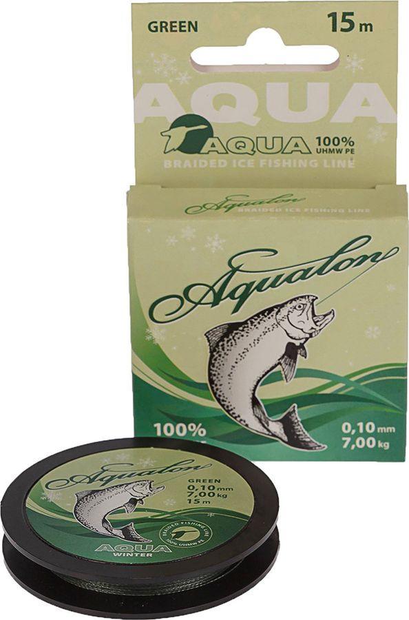 Леска плетеная Aqua Aqualon Dark-Green, 2733516, 15 м, 0,10 мм