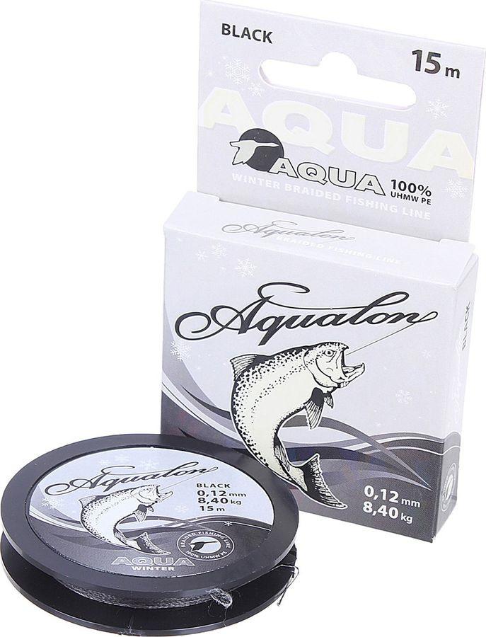 Леска плетеная Aqua Aqualon Black, 1701779, 15 м, 0,12 мм