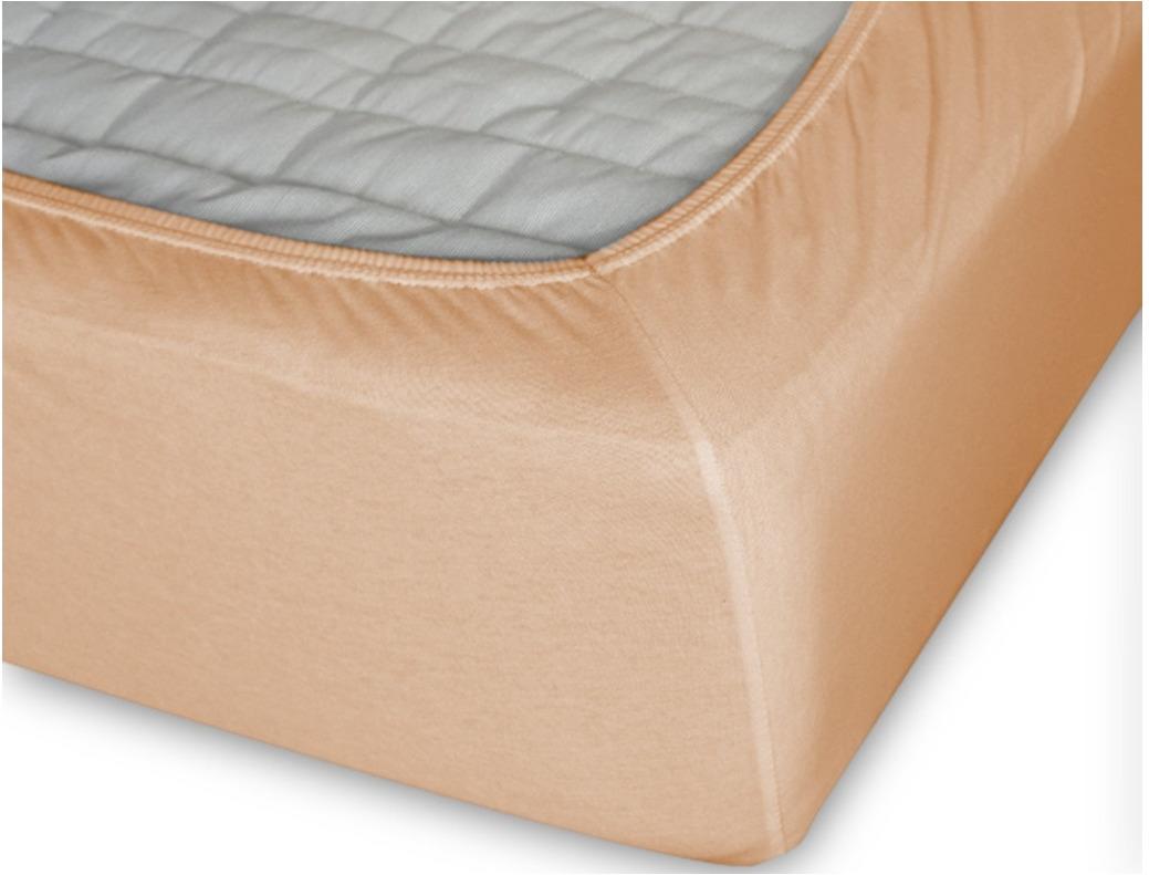 Простыня Cleo на резинке 200x200 персиковый простыня на резинке cleo 160х200 см cl