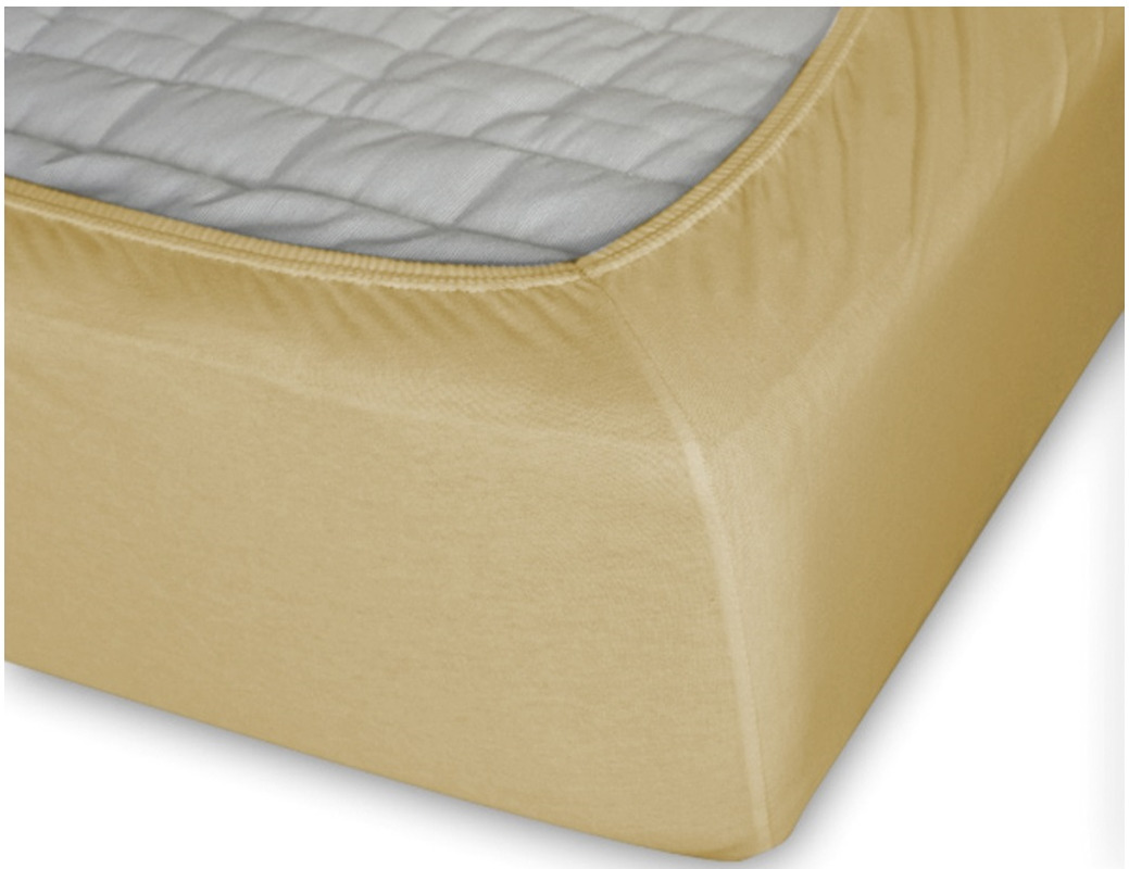 Простыня Cleo на резинке 180x200 желтый простыня на резинке cleo 160х200 см cl