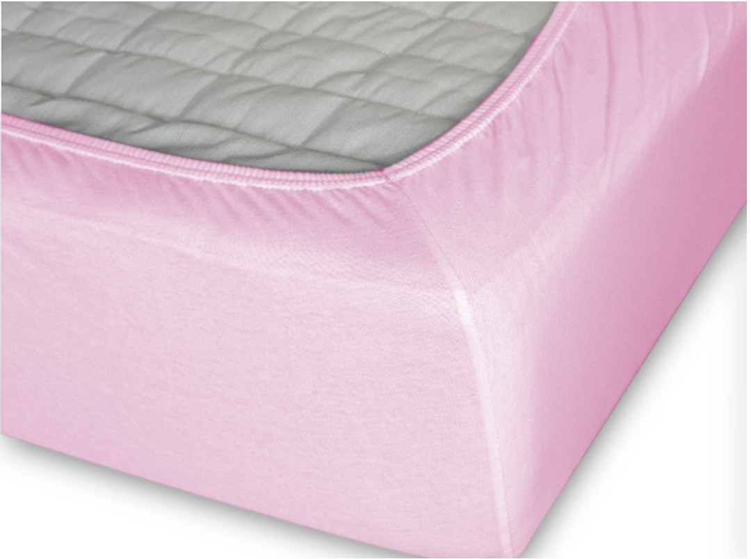 Простыня Cleo на резинке 120x200 светло-розовый простыня на резинке cleo 160х200 см cl