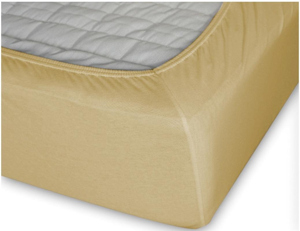 Простыня Cleo на резинке 90x200 желтый простыня на резинке cleo 160х200 см cl