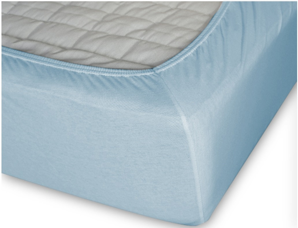 Простыня Cleo на резинке 120x200 голубой простыня на резинке cleo 160х200 см cl