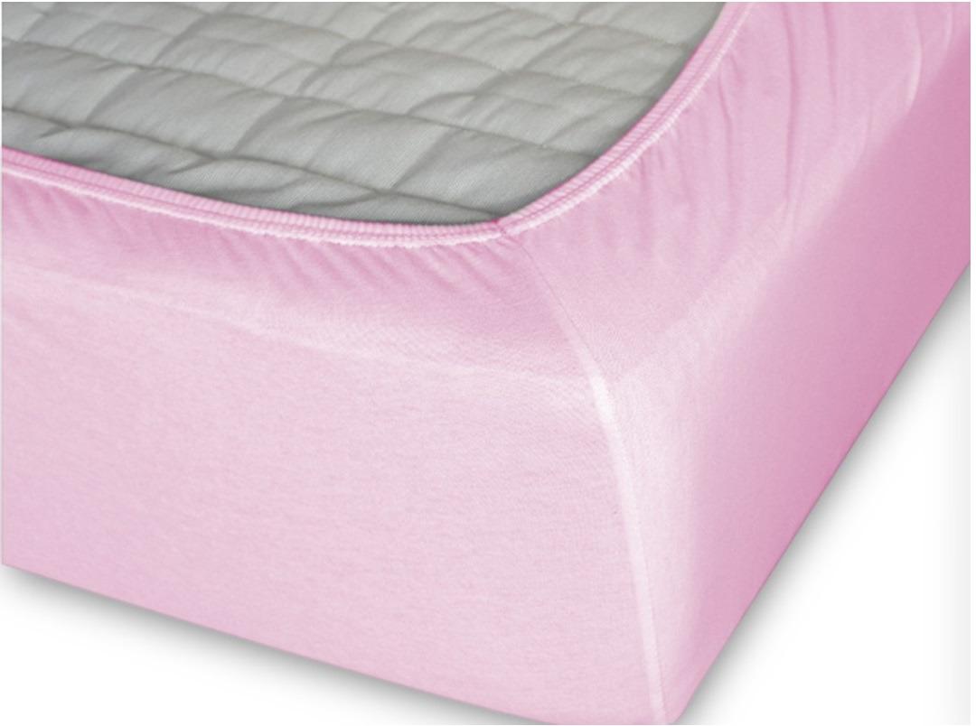 Простыня Cleo на резинке 200x200 светло-розовый простыня на резинке cleo 160х200 см cl