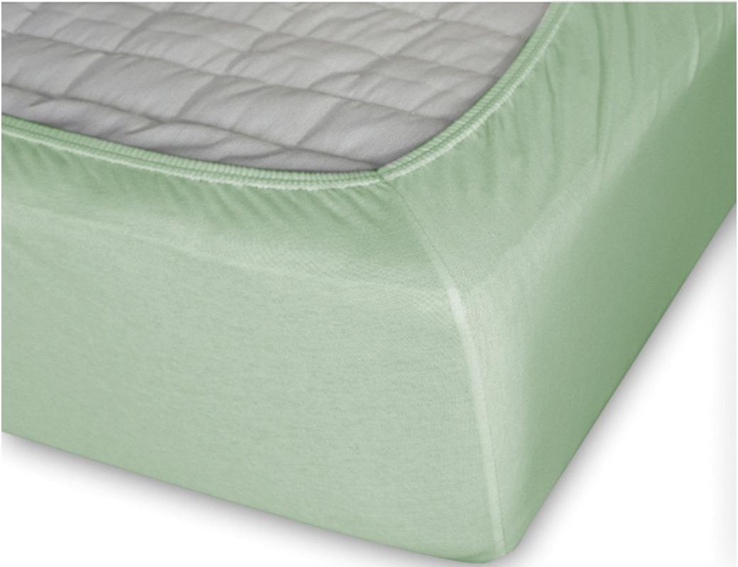 Простыня Cleo на резинке 200x200 Светло-зелёный простыня на резинке cleo 160х200 см cl