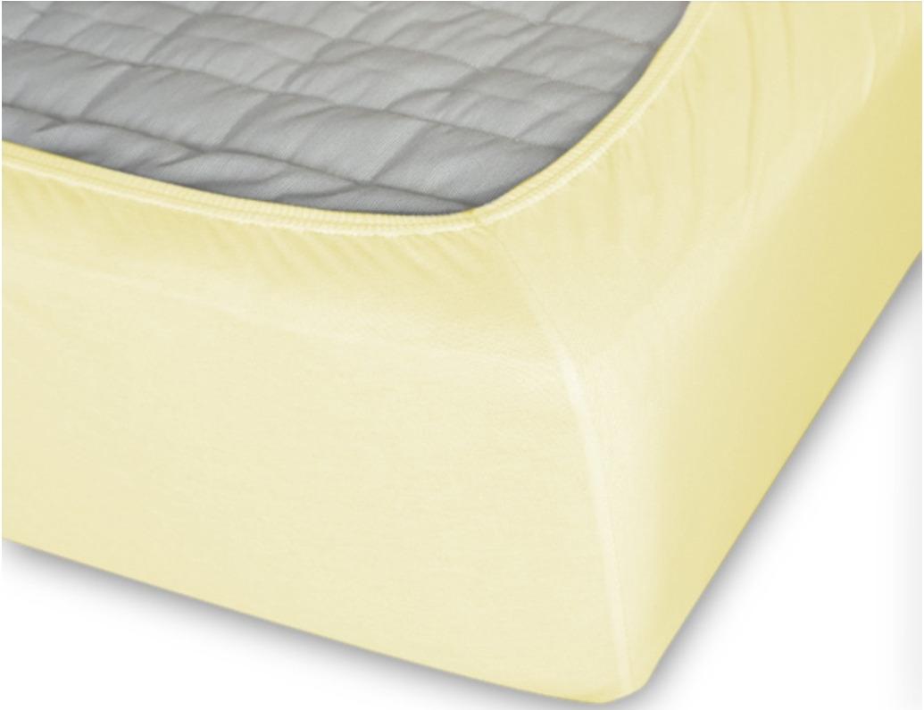 Простыня Cleo на резинке 140x200 лимонный простыня на резинке cleo 160х200 см cl
