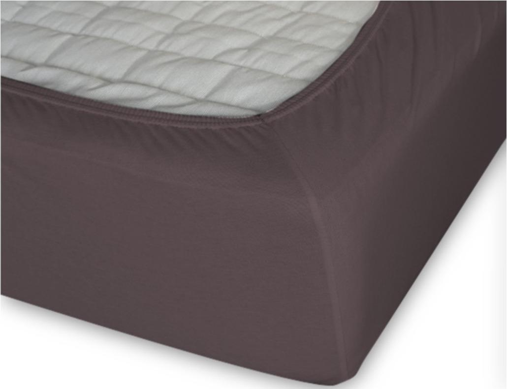 Простыня Cleo на резинке 90x200 темно-коричневый простыня на резинке cleo 160х200 см cl