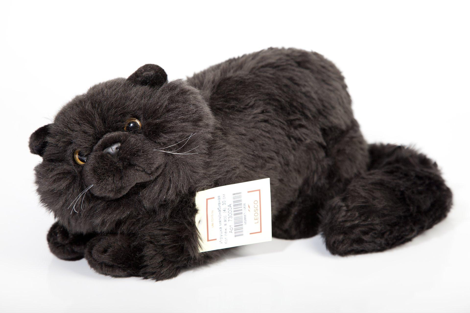 Мягкая игрушка Leosco Кот черный