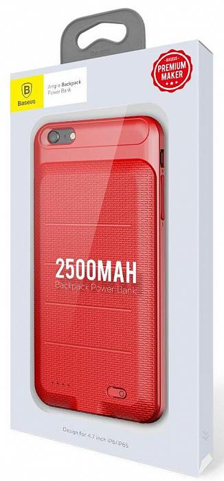 Чехол аккумулятор Baseus Ample Backpack Power Bank Case, красный