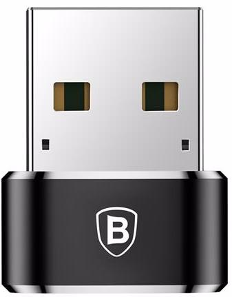 Адаптер-переходник Baseus USB Male To Type-C Female Adapter Converter, черный