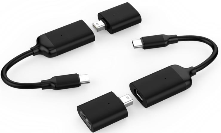 Адаптер-переходник HyperDrive USB-C to Mini DisplayPort/HDMI Adapter переходник orico cta1 usb c to usb 3 0