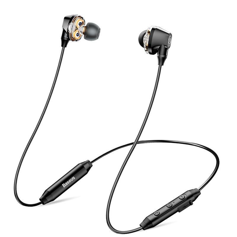 Наушники Baseus Dual Dynamic Bluetooth Headset, черный наушники baseus ngc16 01 черный