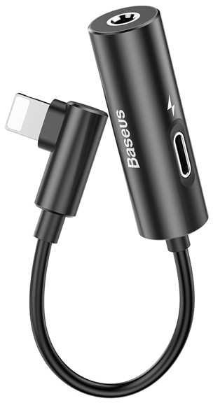 Фото - Кабель Baseus L42, черный аксессуар baseus ip to double ip socket adapter l36 lightning dual lightning audio white call36 02