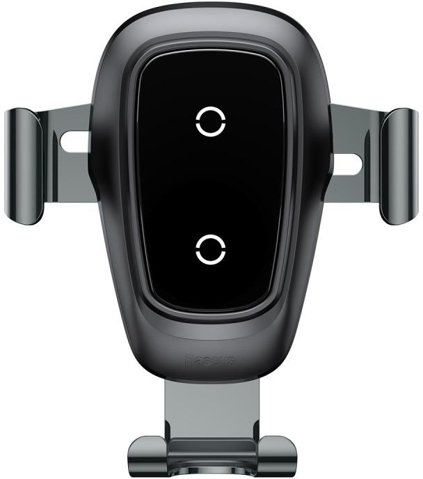 Автомобильный держатель Baseus Беспроводная зарядка-автодержатель Metal Wireless Charger Gravity Car Mount, черный автомобильный держатель для телефона на торпеду baseus mouth car mount черный sudz 01