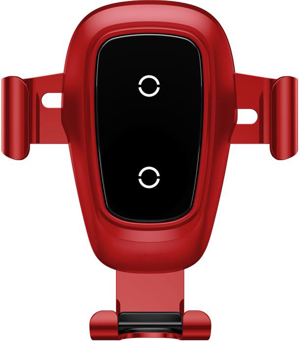 Автомобильный держатель Baseus Беспроводная зарядка-автодержатель Metal Wireless Charger Gravity Car Mount, красный 10 hd digital lcd screen car headrest monitor dvd cd player ir fm with remote controller remote mount bracket car player new