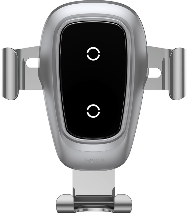 Автомобильный держатель Baseus Беспроводная зарядка-автодержатель Metal Wireless Charger Gravity Car Mount, серебристый автомобильный держатель для телефона на торпеду baseus mouth car mount черный sudz 01