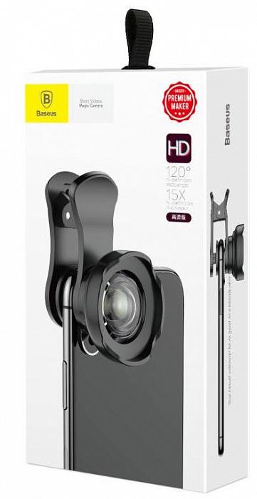 Фото - Объектив накладной Baseus набор для телефона, ACSXT-A01, черный объективы