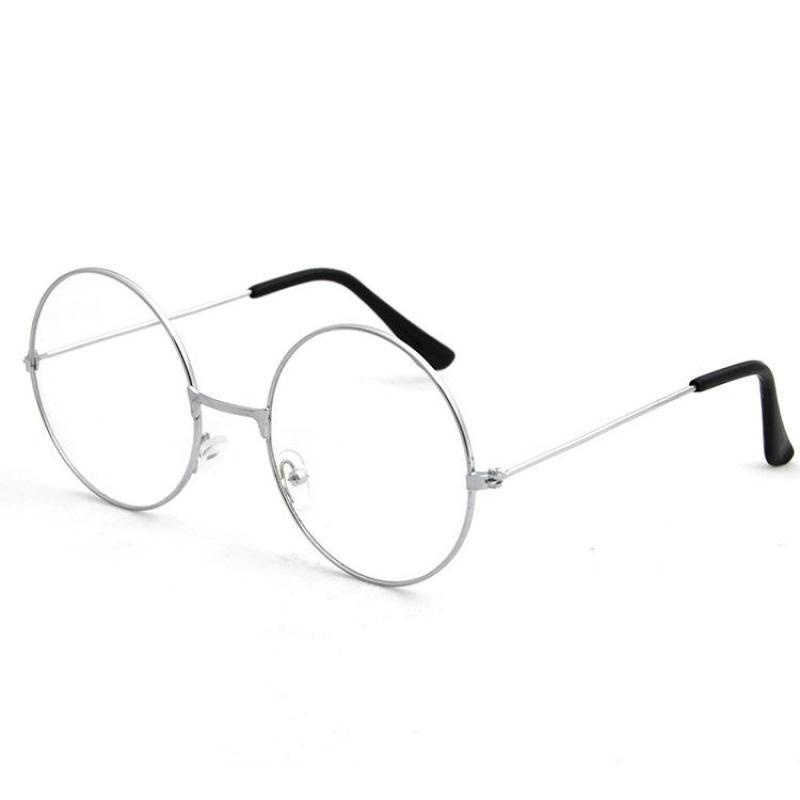 Оправа Круглые очки в металлической оправе, серебристый
