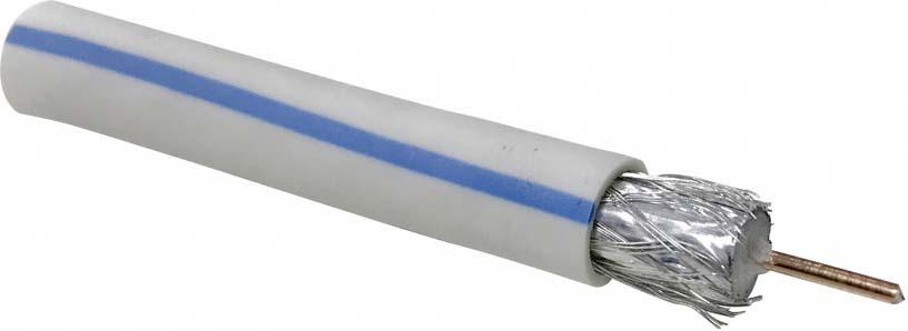 Кабель коаксиальный Cadena RG-6SAT-Optima Standard, белый, 100 м