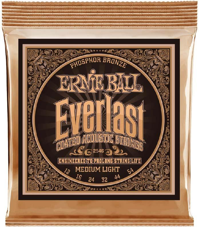 Струны для акустической гитары Ernie Ball Everlast Phosphor Bronze Medium Light (12-16-24w-32-44-54), P02546 часы phosphor