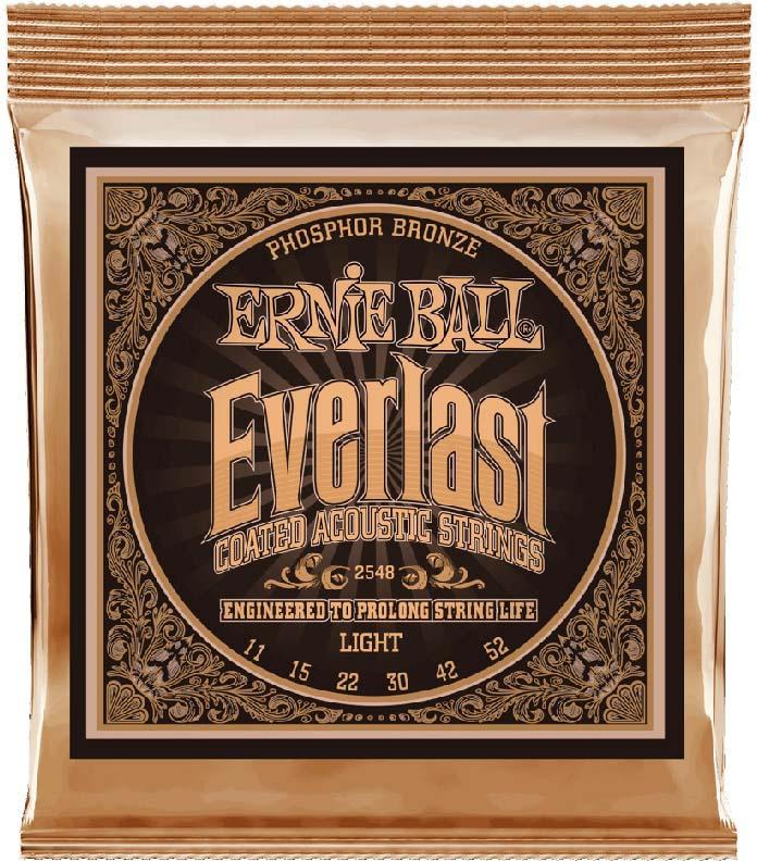 Струны для акустической гитары Ernie Ball Everlast Phosphor Bronze Light (11-15-22w-30-42-52), P02548 часы phosphor