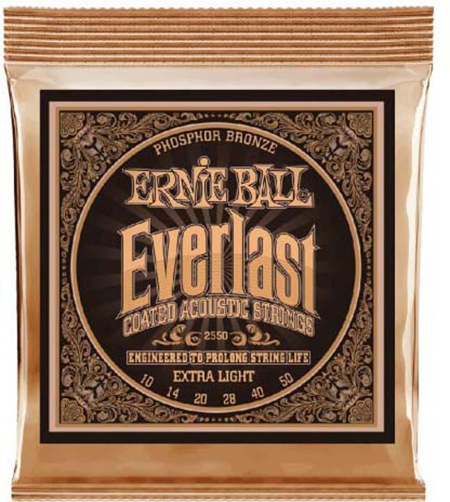 Струны для акустической гитары Ernie Ball Everlast Phosphor Bronze Extra Light (10-14-20w-28-40-50), P02550 часы phosphor