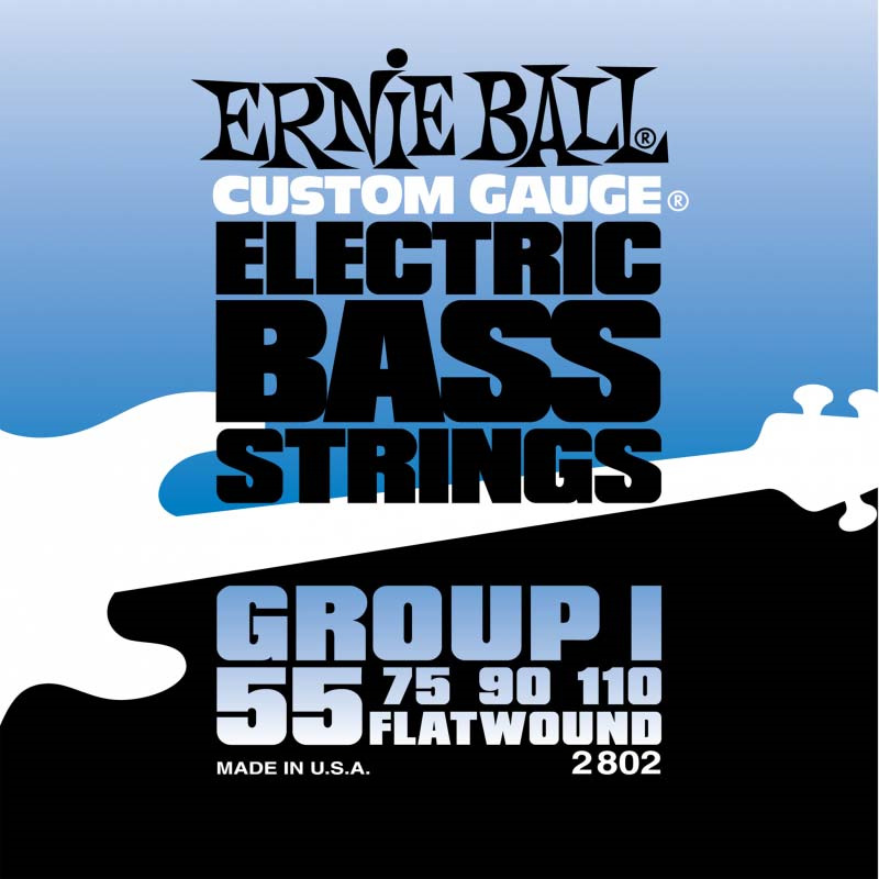 Струны для бас-гитары Ernie Ball Flat Wound Bass Group I (55-75-90-110), P02802 цены