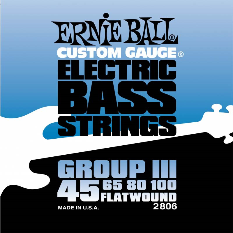 Струны для бас-гитары Ernie Ball Flat Wound Bass Group III (45-65-80-100), P02806 цены