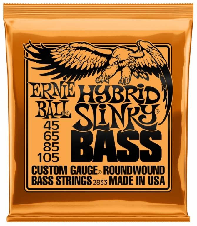 Струны для бас-гитары Ernie Ball Nickel Wound Bass Hybrid Slinky (45-65-85-105), P02833 random color ball emoji round keychain