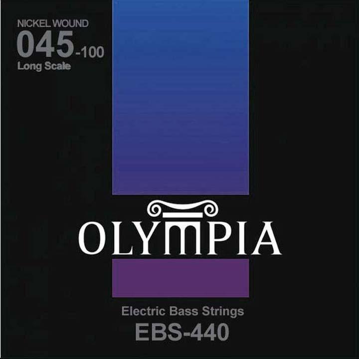 Струны для бас-гитары Olympia Nickel Wound (45-65-80-100), EBS440