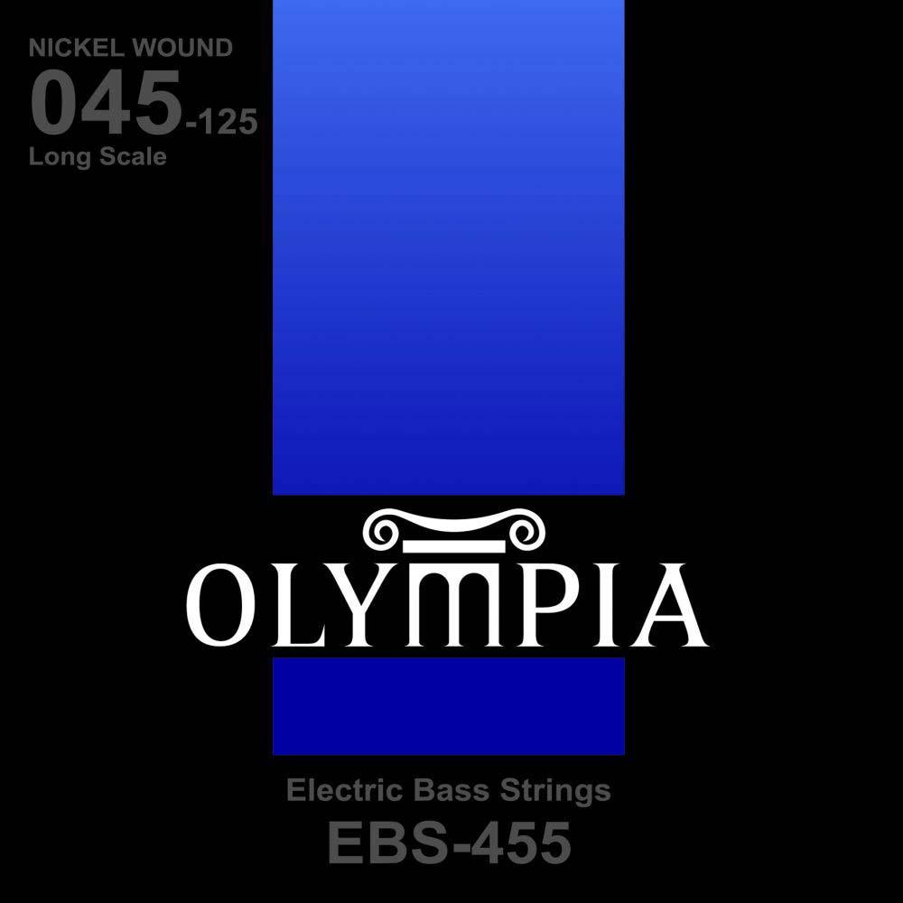 Струны для бас-гитары Olympia Nickel Wound (45-65-80-100-125), EBS455