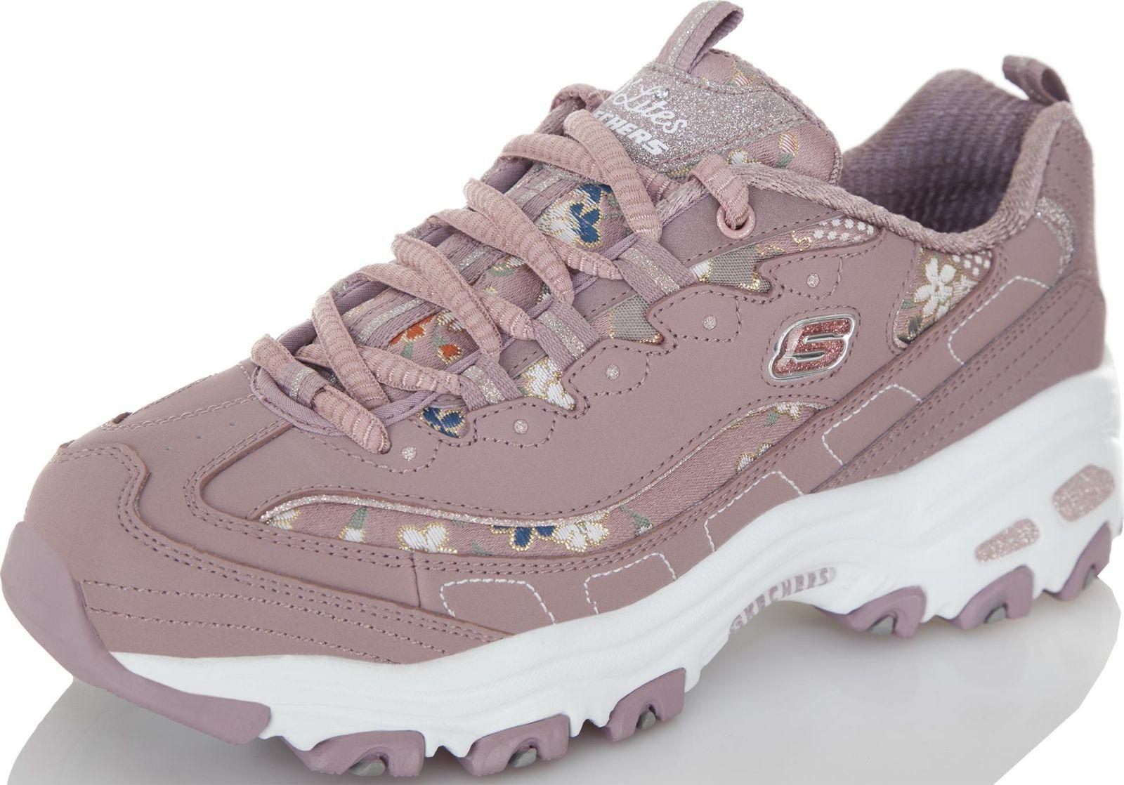 Кроссовки женские Skechers DLites-Floral Days, цвет: лиловый. 13082-MVE. Размер 9,5 (41)13082-MVEКроссовки женские для фитнеса DLITES-FLORAL DAYS. Объемная подошва из материала ЭВА прекрасно поглощает удары, которые возникают при ходьбе. В обуви установлена стелька Air Cooled Memory Foam, заполненная специальной пеной, которая повторяет форму стопы. Также стелька имеет перфорацию, которая обеспечивает принудительную вентиляцию обуви. Рекомендуем!
