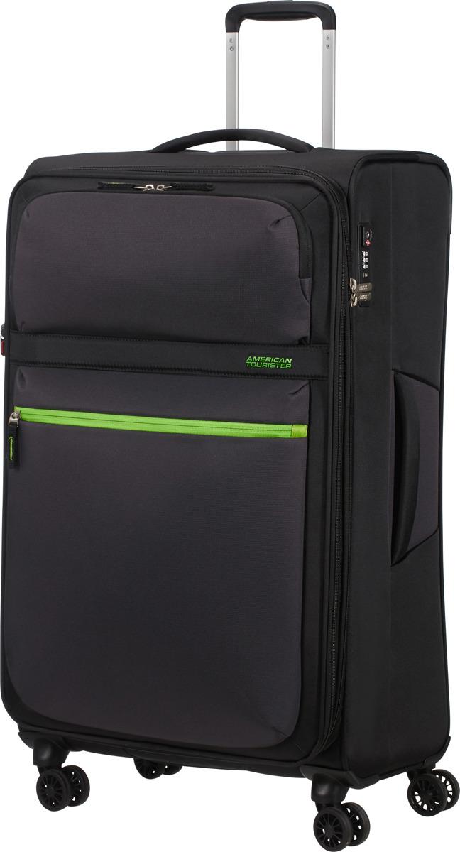 Чемодан American Tourister, 77G*19005, 4-колесный, черный, L (70-100 см), 107 л чемодан american tourister 4 колеса 71 см