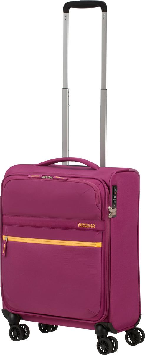 Чемодан American Tourister, 77G*80002, 4-колесный, розовый, S (до 55 см), 42 л цена и фото