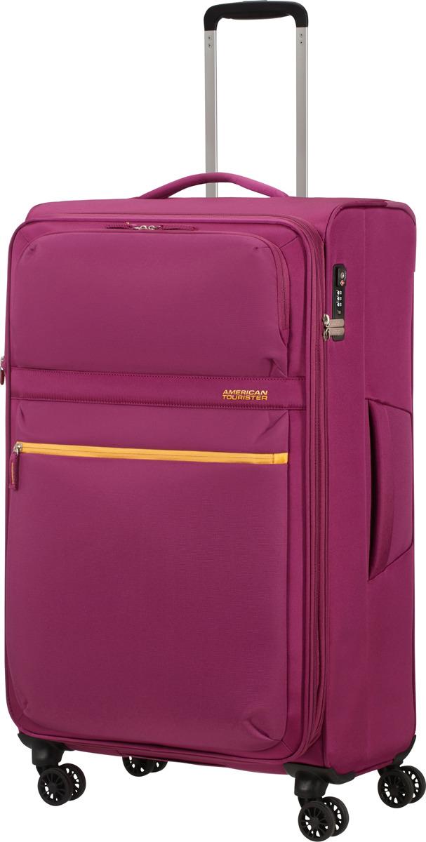 Чемодан American Tourister, 77G*80005, 4-колесный, розовый, L (70-100 см), 107 л чемодан american tourister wavebreaker sunny yellow 67 см 4 колеса