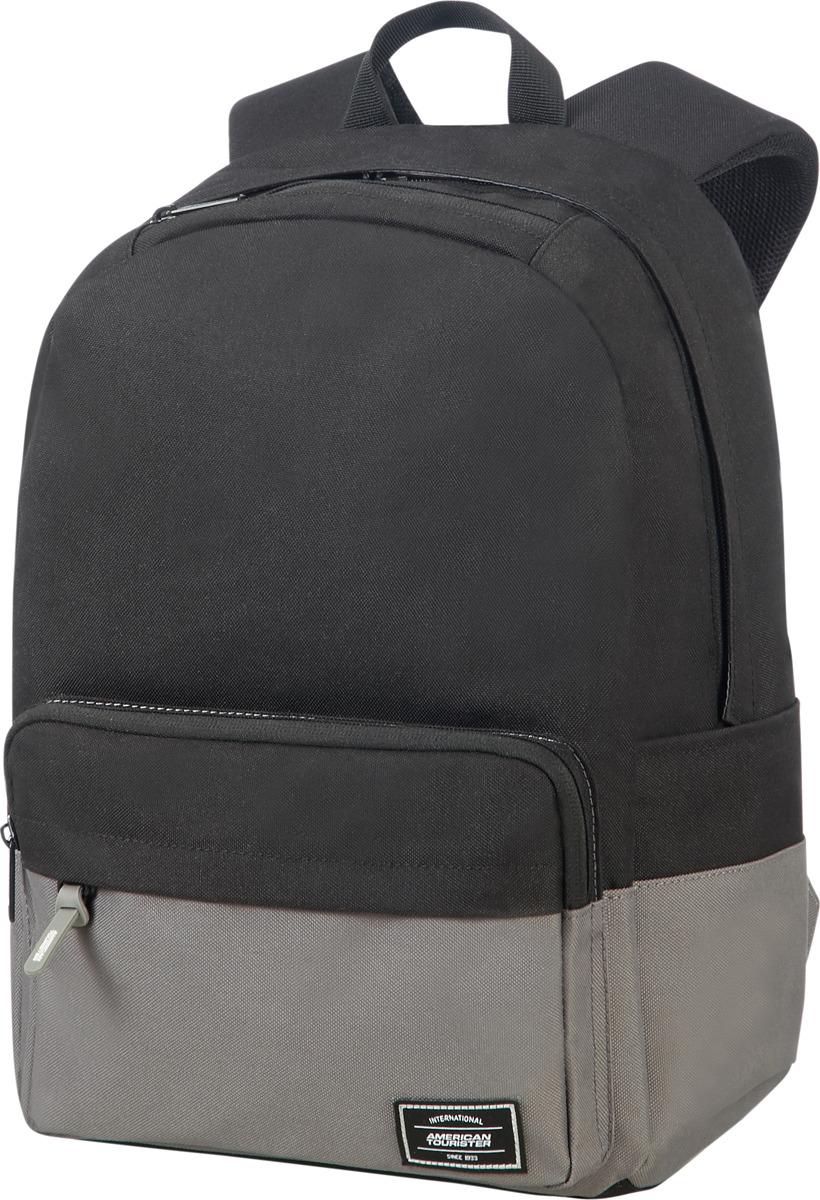 Рюкзак спортивный American Tourister, 24G*49022, черный, серый, 23 л рюкзак спортивный adidas trefoil цвет бордовый 23 л bk6728