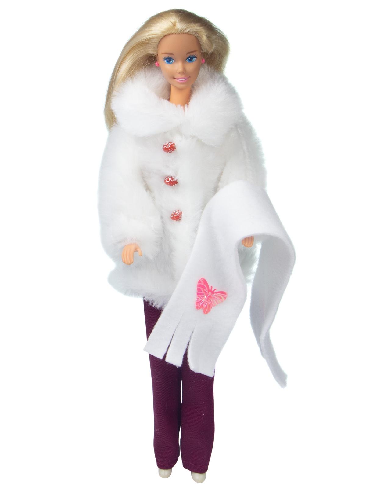 Одежда для кукол Модница Полушубок и брючки для кукол 29 см белый