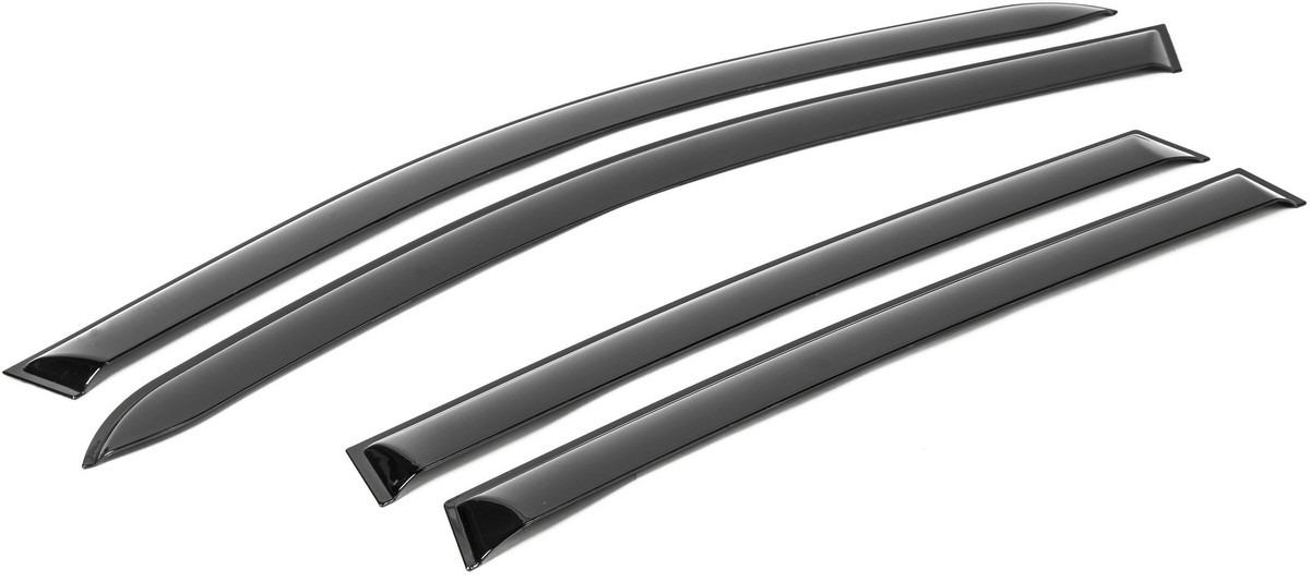 Дефлекторы окон AutoFlex для Nissan Terrano III 5-дв. 2014-н.в., поликарбонат, 4 шт. 841102 дефлекторы окон vinguru nissan terrano 2014