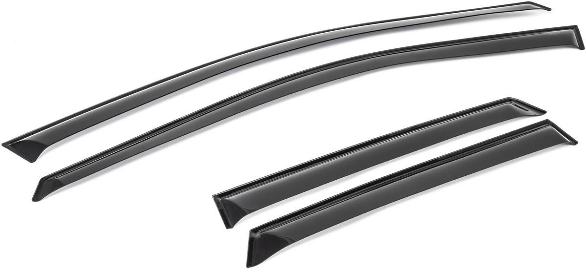 Дефлекторы окон AutoFlex для Renault Kaptur 5-дв. 2016-н.в., акрил, 4 шт. 847005847005Автомобильные дефлекторы окон AutoFlex - защищают салон автомобиля от попадания снега, дождя и брызг встречных машин. Гармонично сочетаются с внешним видом автомобиля. - Продукция изготавливается из современного композиционного материала с использованием высококачественных компонентов. - Дефлекторы разработаны с учетом индивидуальных особенностей автомобиля, точно соответствуют контурам окон автомобиля. - В комплект входят 4 дефлектора, салфетка для обезжиривания поверхности. - Дефлекторы крепятся на двухсторонний скотч 3M, гарантирующий надежное сцепление поверхностей при соблюдении инструкций по установке. - Упакованные в логотипированную картонную коробку для защиты их от повреждения при транспортировке.
