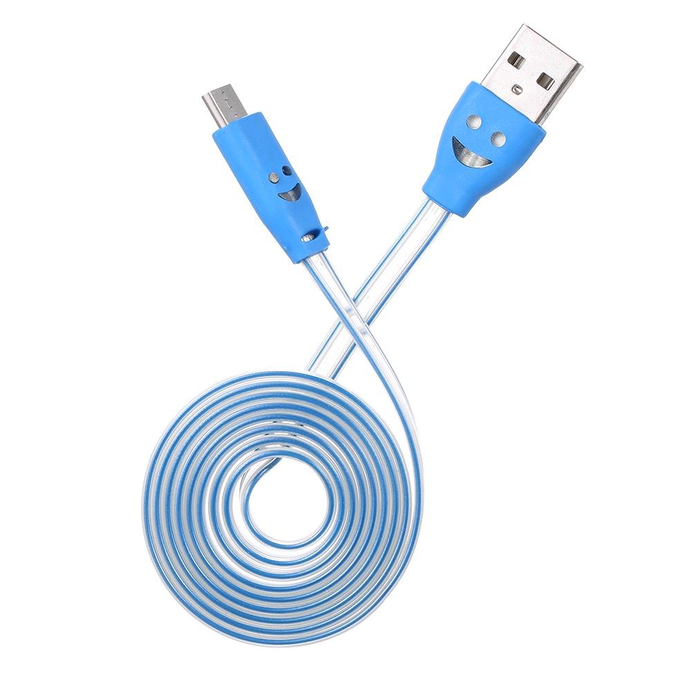 Кабель USB-кабель со светодиодной подсветкой, синий