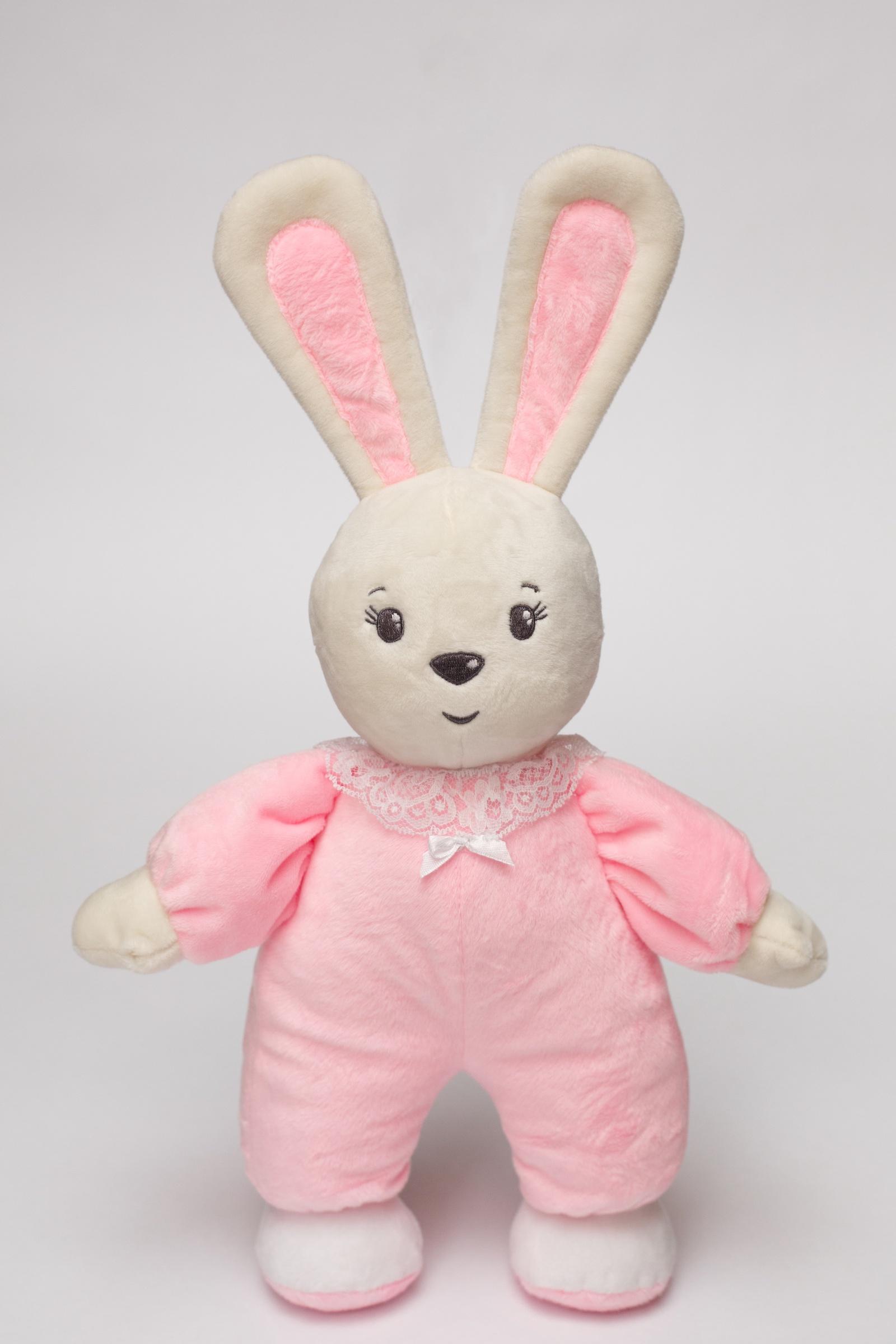 Мягкая игрушка Princess Love Зайчик-погремушка Малыш розовый розовый