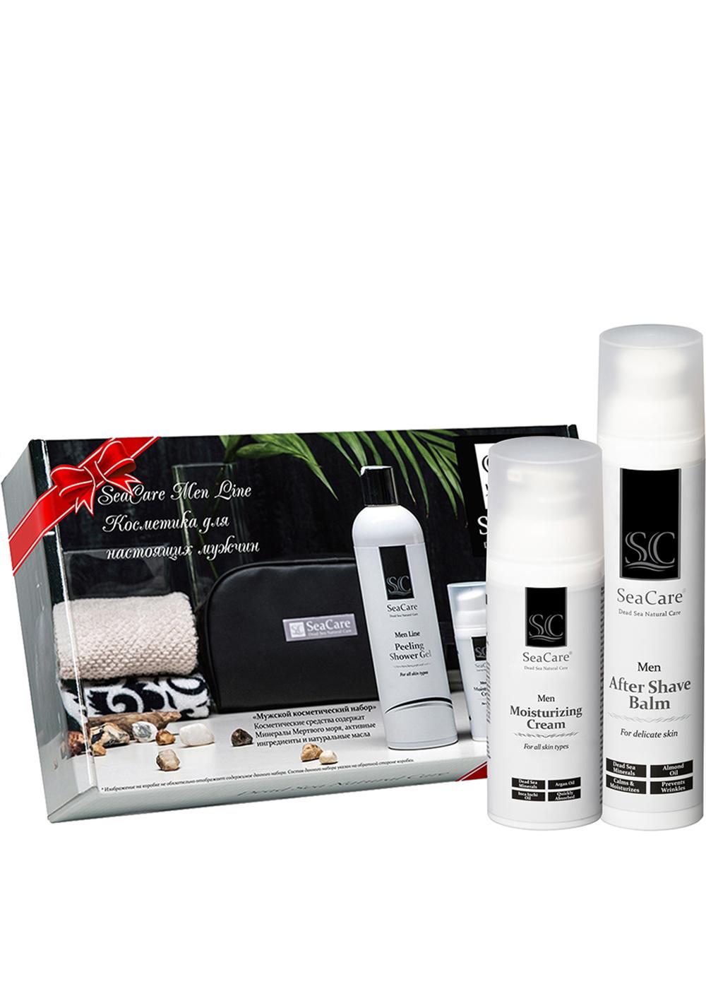 Набор косметики для ухода за кожей SeaCare Подарочный мужской набор №2, Бальзам после бритья и Омолаживающий крем для лица 100+50мл