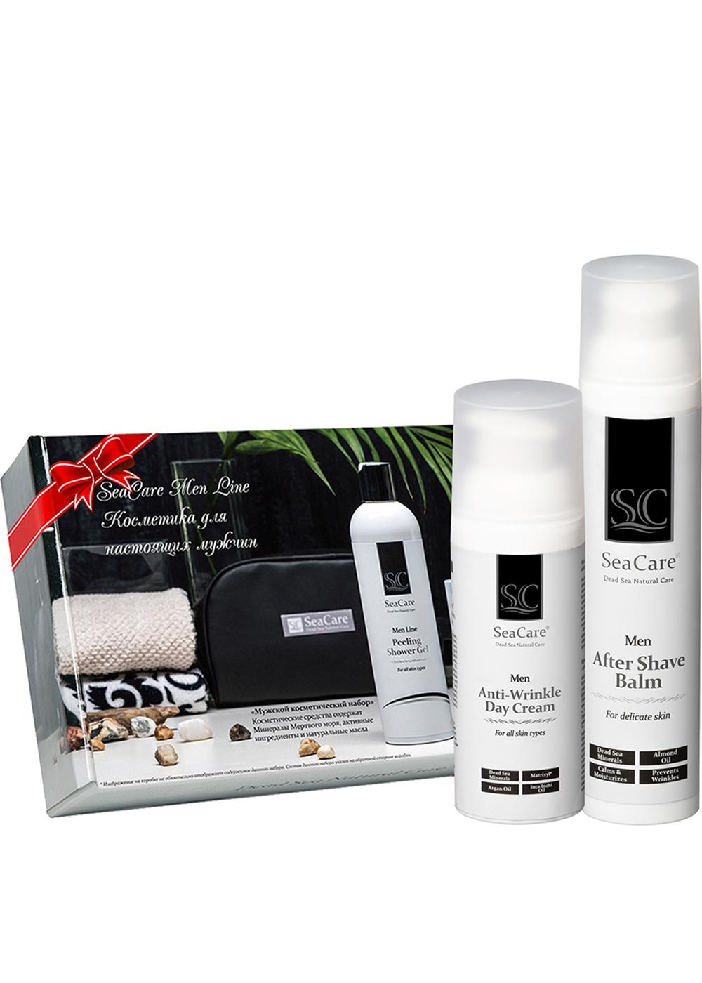Набор косметики для ухода за кожей SeaCare Подарочный мужской набор №3, Бальзам после бритья и Антивозрастной крем для лица 100+50мл