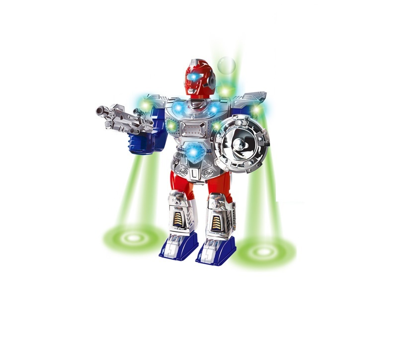 Игрушечный робот S+S TOYS со светом и звуком, 100095128 михайлова и м вверх вниз влево вправо