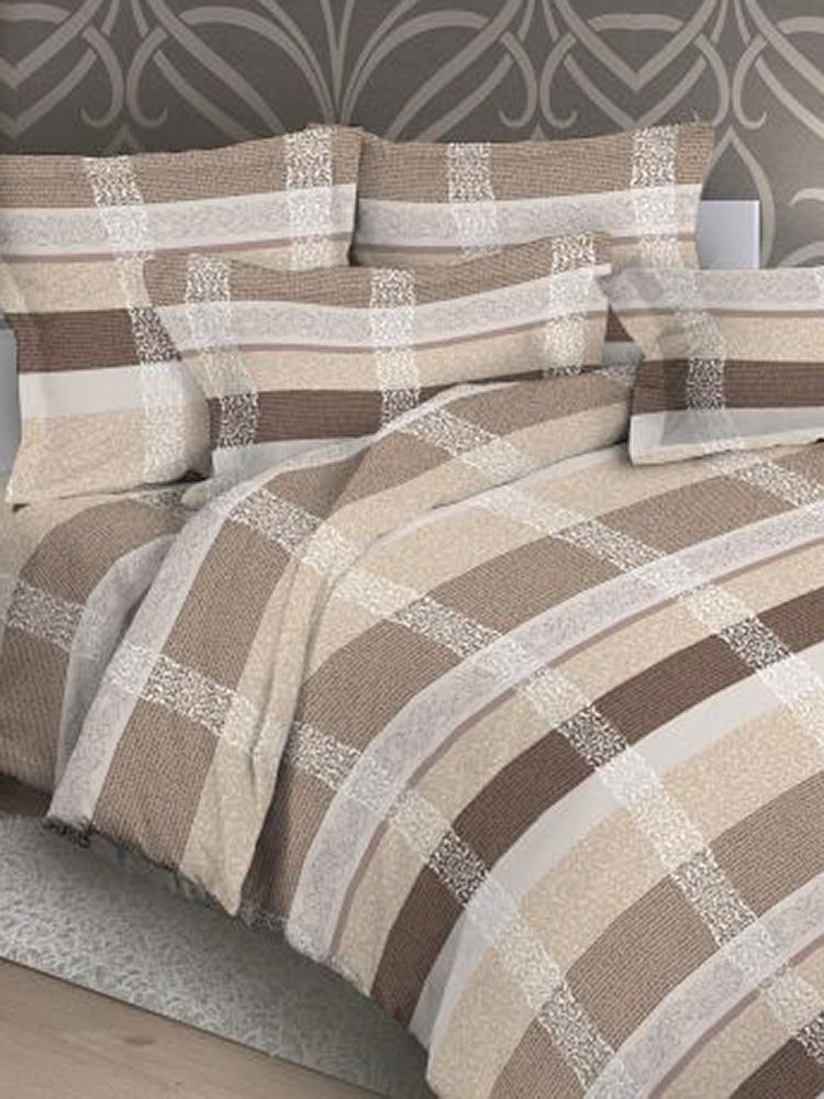 Комплект постельного белья ИМАТЕКС 9775-сем-70х70, светло-бежевый, бежевый, белый donson 70х70 см delicate