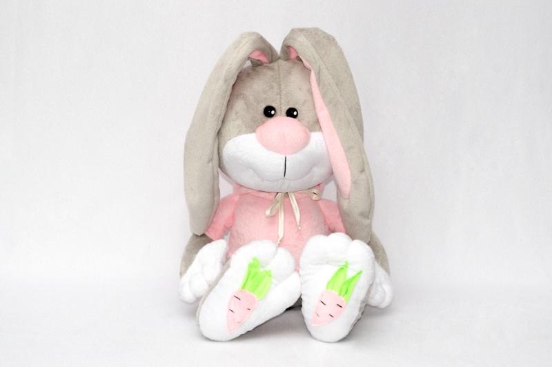 Заяц Морковкин серый 60 см