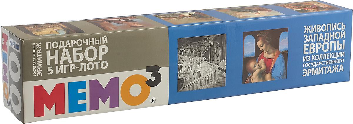 МЕМО Лото Живопись западной Европы из коллекции Эрмитажа 5 в 1 origami подарочный набор 3 в 1 лото мемо домино 3 мини пазла