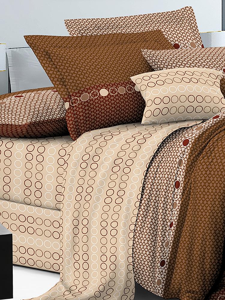 Комплект постельного белья ИМАТЕКС IM0229-2-70х70, коричневый, светло-бежевый, бордовый постельное белье cotton life love you 70х70 см 1 5 спальное